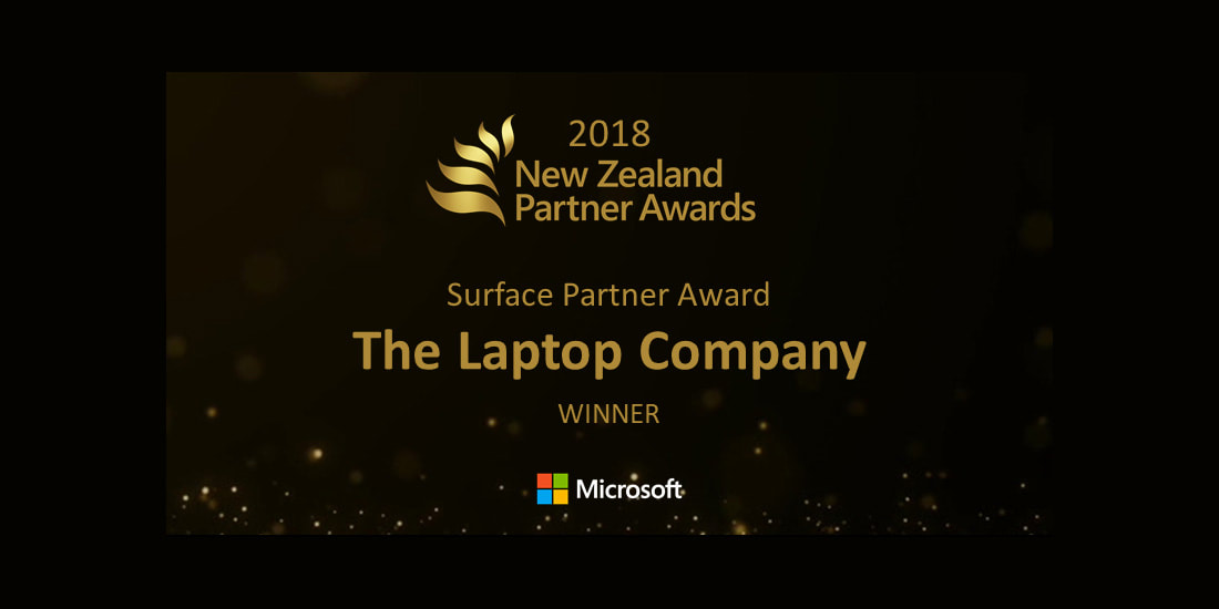 The Laptop Company is the 2018 winner of the Microsoft NZ Surface Partner Award